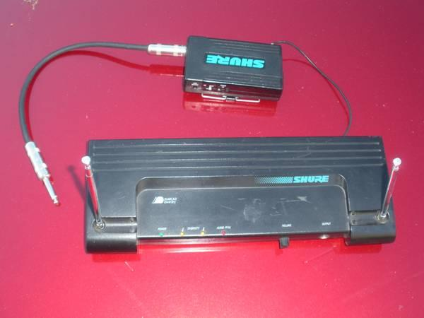SHURE WIRELESS GUITAR BASS OR VOCAL SYSTEM - $35
