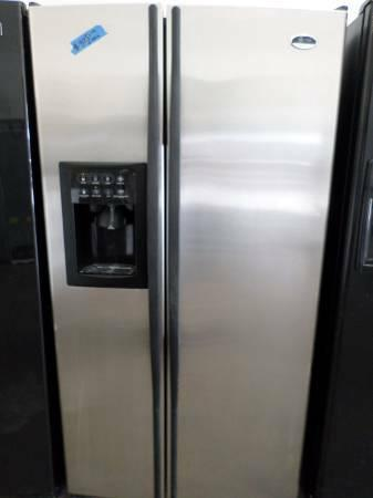 Side By Side Fridge Stainless Steel Ge Profile Arctica
