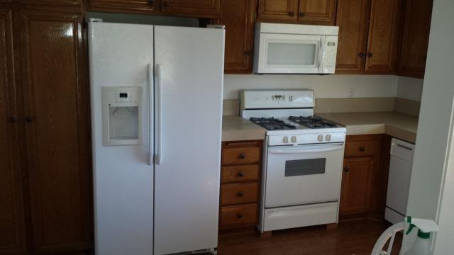 Side Refrigerator Stove Microwave