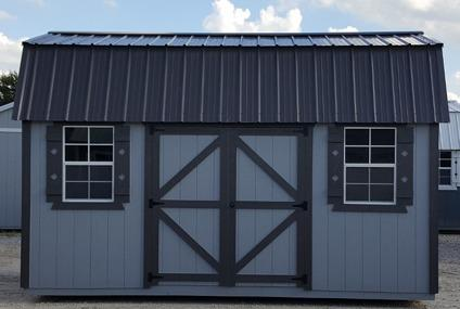 Side lofted barn 10x16 storage shed, sheds