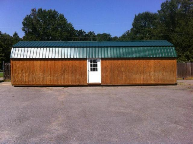 Side lofted barn cabin 12x40 for sale in maumelle for 12x40 mobile home floor plans