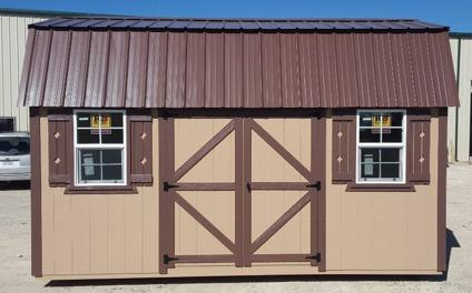 Side lofted storage shed- 10x16 portable building