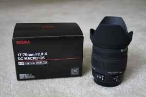 SIGMA 17-70mm F2.8-4 DC Macro OS HSM Lens for Canon Digital Cameras - $399 Clarence