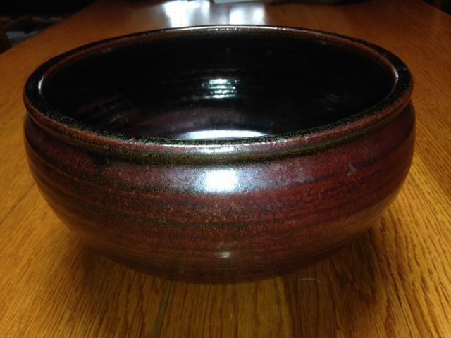 Signed Handmade Pottery Bowl Fall Brook Pottery Vt