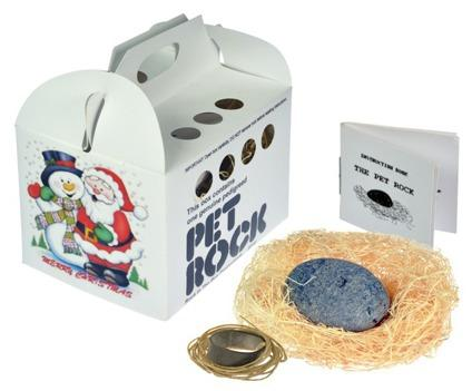 Silly Gag GIft - PET ROCK (Original Pet Shop Style)Gag