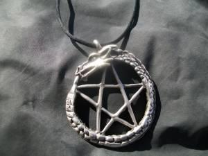 Silver dragon pentacle necklace corrales for sale in for Custom jewelry albuquerque new mexico