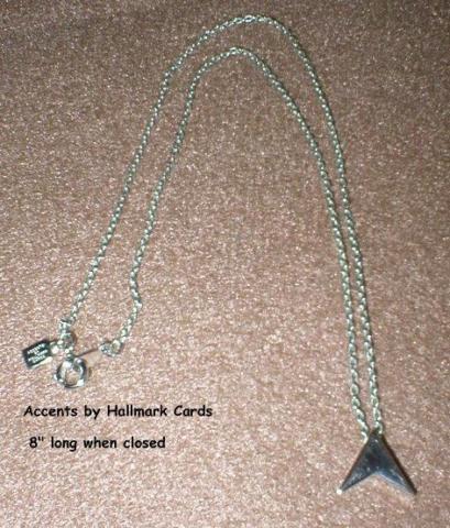 Silvertone Pendant Necklace - Accents by Hallmark - Vintage