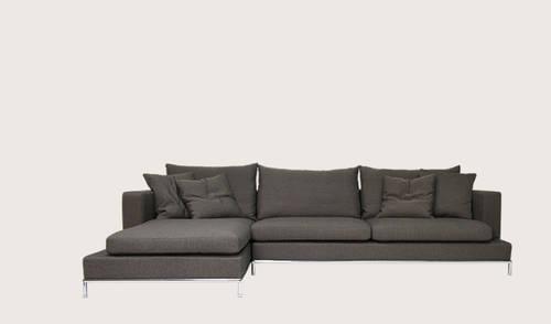 Simena Sofa Sectional B B Style Mid Century Modern Nib