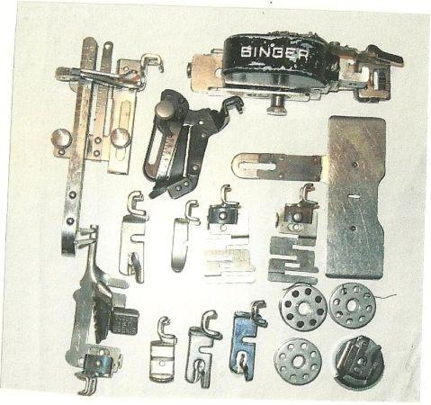 Singer Featherweight Sewing Machine W Attachments