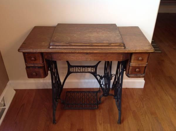 Singer Sewing Machine & Table - $160
