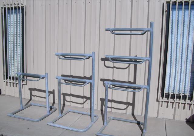 single double and triple saddle racks and wash racks -