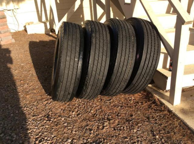 Six 22.5 Truck & RV Load Range H Tires
