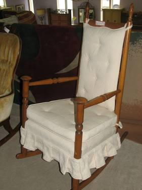 Skirted Maple Rocking Chair For Sale In Fort Wayne