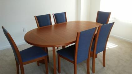 Skovby teak wood dining room set
