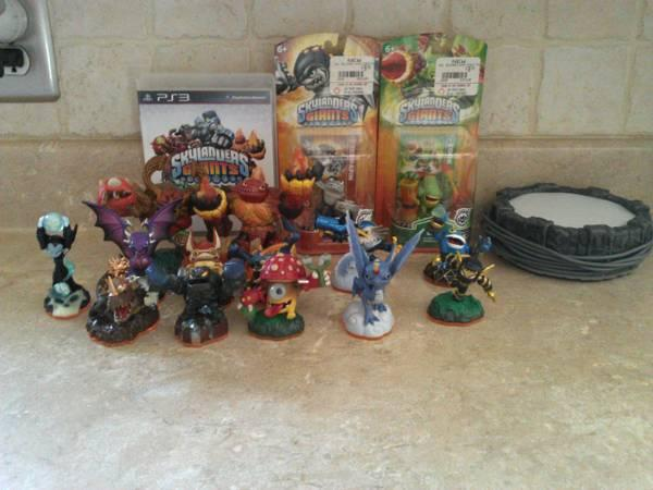 skylanders game and figurines - $50