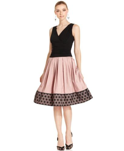 SL Fashions Dress, Sleeveless Jeweled A-Line