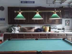 Slate Pool Table With Leather Drop Pockets