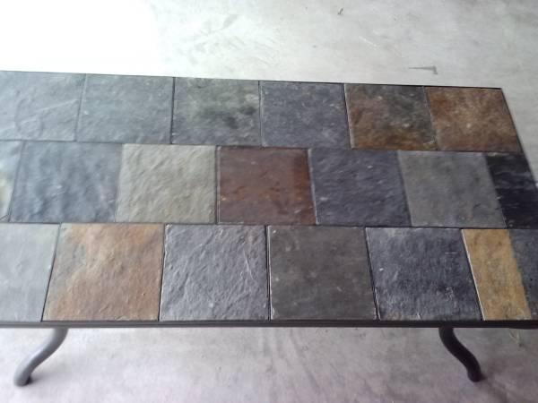 Slate Tile Coffee Table   $45