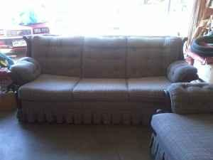 Sleeper Sofa & Chair Blue Plaid Highlands Ranch for Sale in Denver Colorado Classified