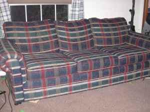 Sleeper Sofa Plaid Ashalnd For Sale In Huntington