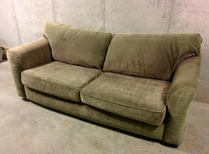 Sleeper Sofa Queen Size Olive Lichen green Includes bed sheets for Sale in Cumming Georgia