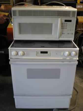 slide in range over range microwave - $200