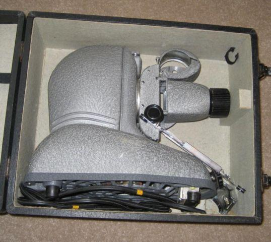 Slide Projector with Case  Attachments