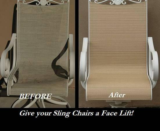 Remarkable Sling Patio Furniture Repair For Sale In Las Vegas Nevada Download Free Architecture Designs Sospemadebymaigaardcom