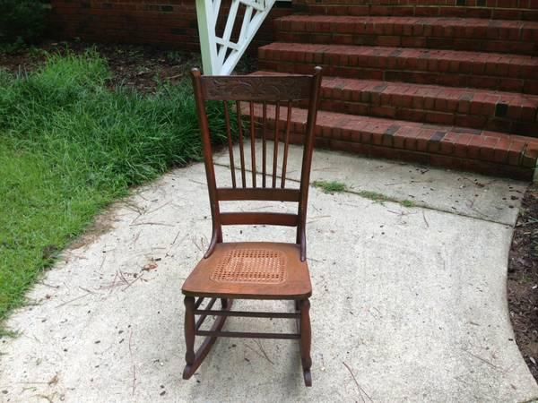 Small Antique Ladies Rocking Chair For Sale In Raleigh