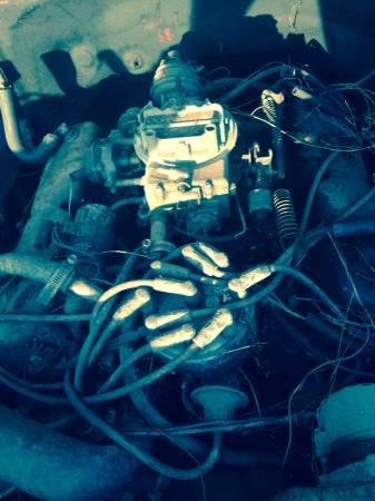 Small block ford engine 4speed trans - $200