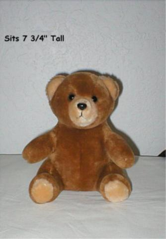 Small Brown Bear - Vintage Toy - Logo Bear  1985