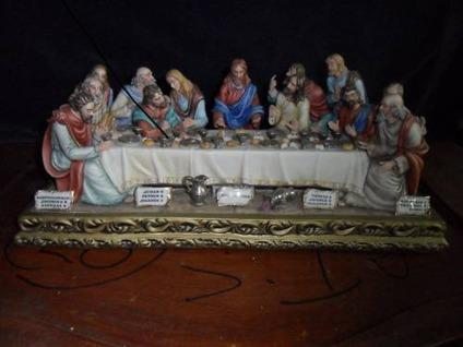 Small Capodimonte Last Supper Sculpture For Sale In Homestead