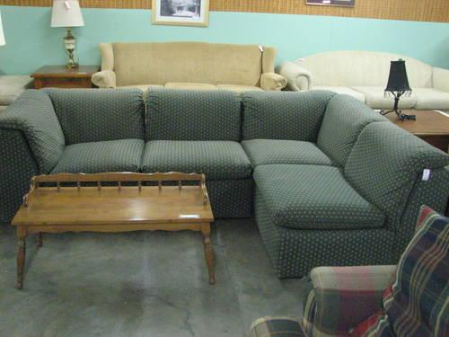 Small Dark Green 4 Piece Sectional Sofa