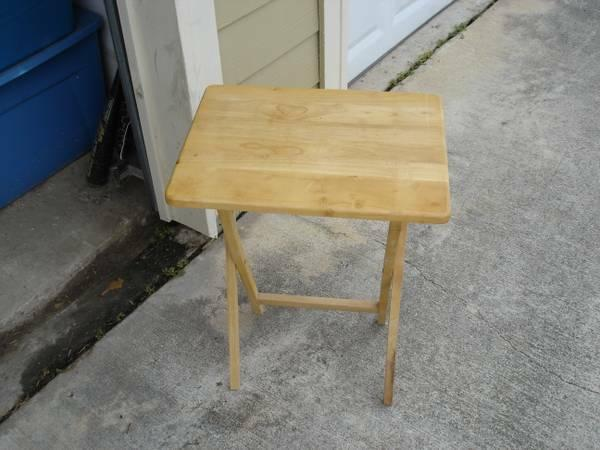 Small Folding Wood Table - $5