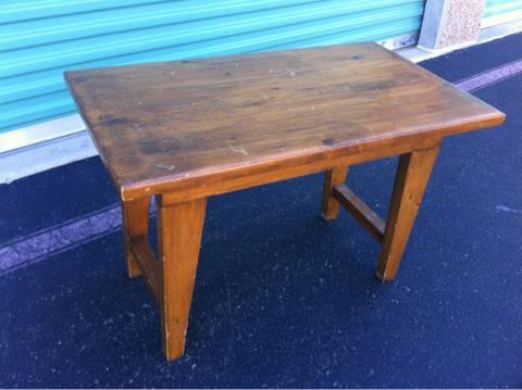 Small Knotty Pine Table/bench   $25