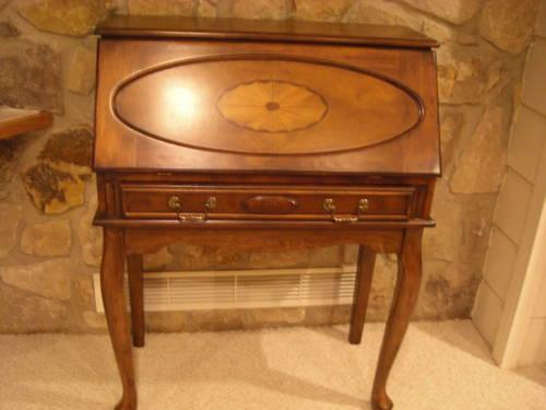 Small Secretary Desk With Fold Down Writing Surface For