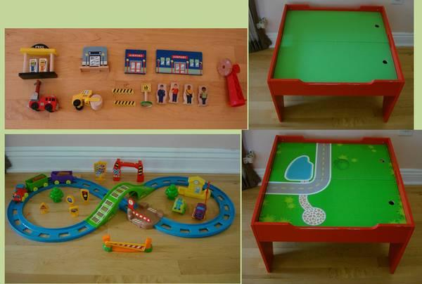 Groovy Small Train Table W Accessories For Sale In Negaunee Interior Design Ideas Apansoteloinfo
