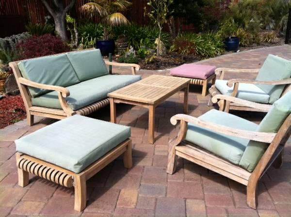 Smith hawken premium quality avignon teak lounge for Smith hawken teak furniture