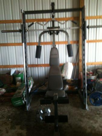 Smith Machine With Workout Station And Weights Beggs Ok