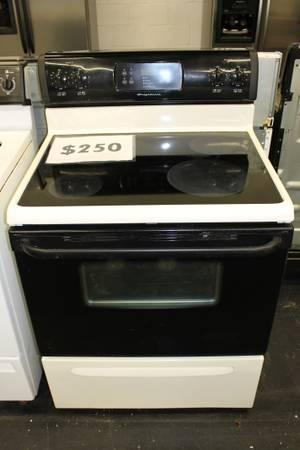 Smooth Top Electric Range Oven Frigidaire White And Black
