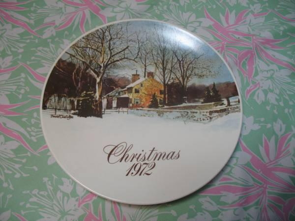 Smuckers Christmas Plates 1972-1980 - $5
