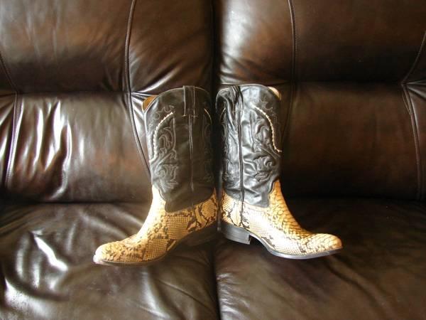snakeskin boots - $60