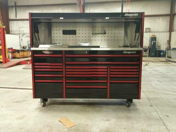 Snap on Epiq 84 tool box with hutch and power top