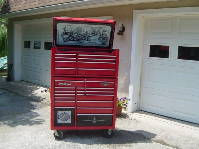 Snap-on, Harley-davidson, 21 drawer stacked tool box.