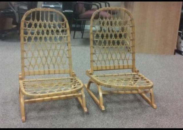 SNOCRAFT VINTAGE Sno Shu Folding Chair Snowshoe