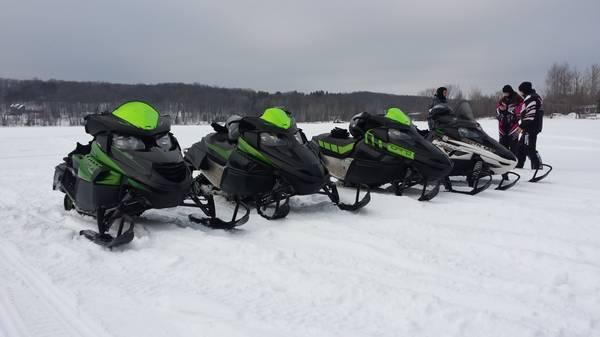 Snowmobile 4 wheeler ice fishing rentals sales service for Used yamaha snowmobiles for sale in wisconsin