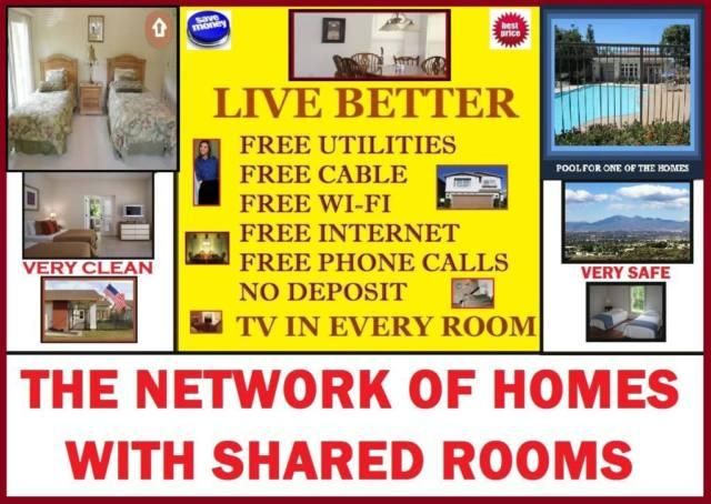 Sober living homes with private and shared room