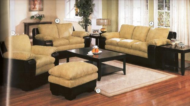 Sofa And Loveseat Combo Featuring A 2