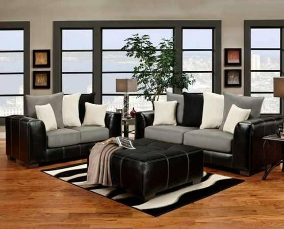 Sofa and Loveseat with Tricolor Back Pillows - for Sale in ...