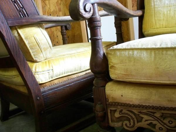 Excellent Vintage Sofa Chair Set Feudal Oak By Jamestown Lounge Pdpeps Interior Chair Design Pdpepsorg